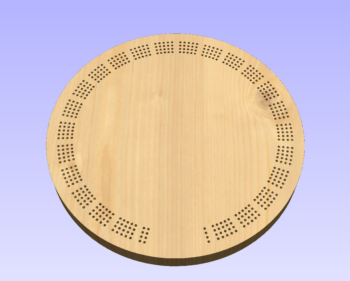 cribbage board drilling templates - 15 inch round template