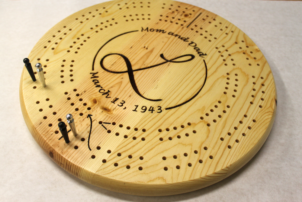 This is a photo of Massif Printable Cribbage Boards