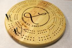 2 Track Round Large Hole Cribbage Board