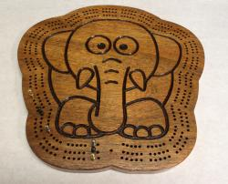 Elephant Cribbage Board