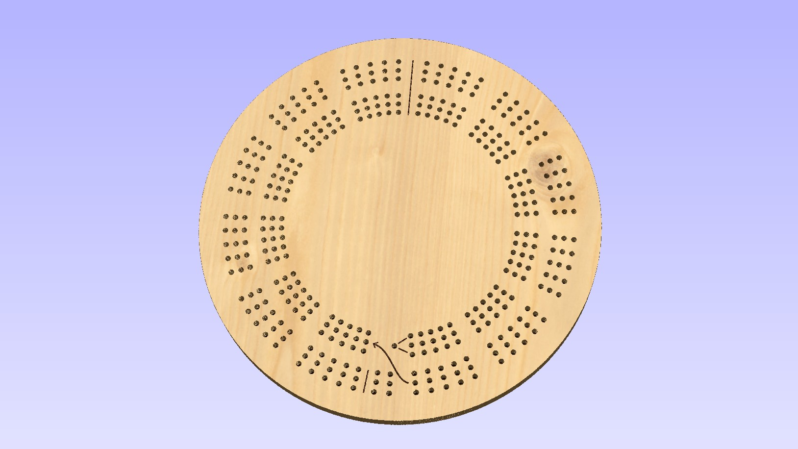 photo about Printable Cribbage Board called 15 Inch Spherical Big 3 Keep track of Template