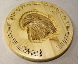 Golden Eage Round Cribbage Board