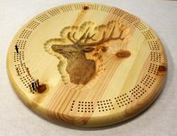 Elk Round Cribbage Board