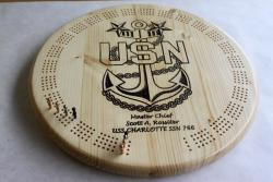 US Navy Master Chief Cribbage Board