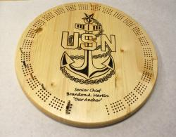 US Navy Senior Chief Cribbage Board