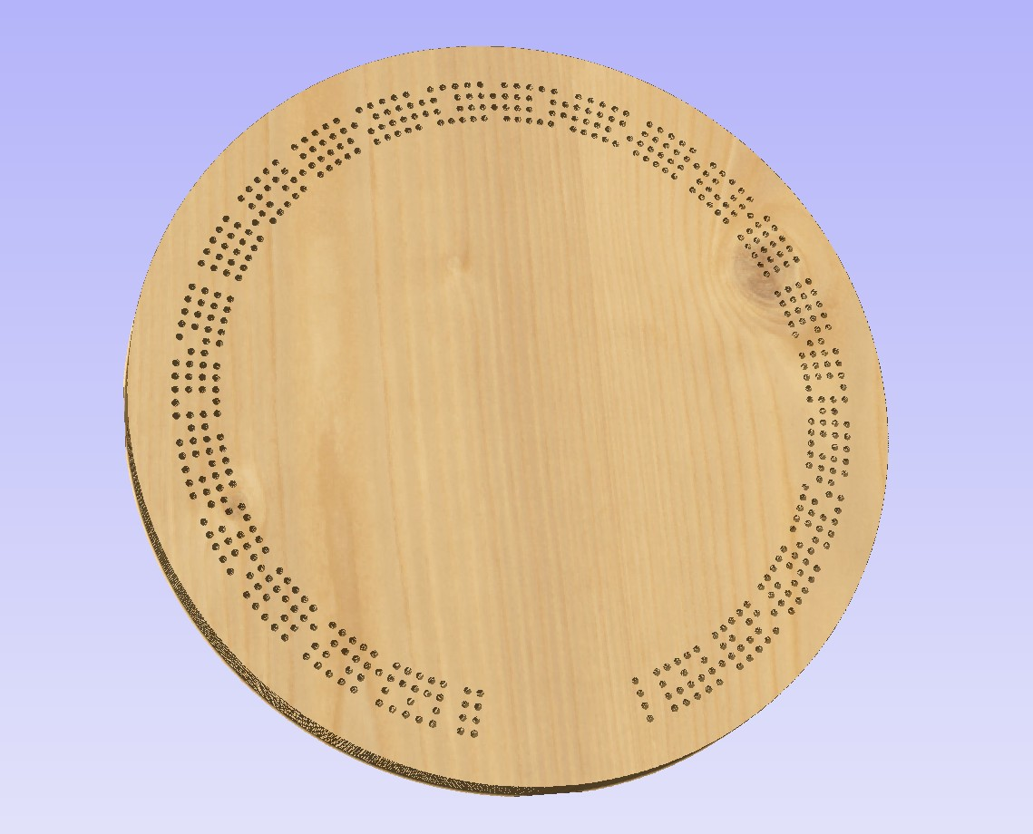 photo regarding Printable Cribbage Board referred to as 15 Inch Spherical Non_Linear Template