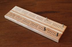Maple Oak Cribbage Board