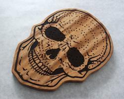 Spiral Skull Mahogany
