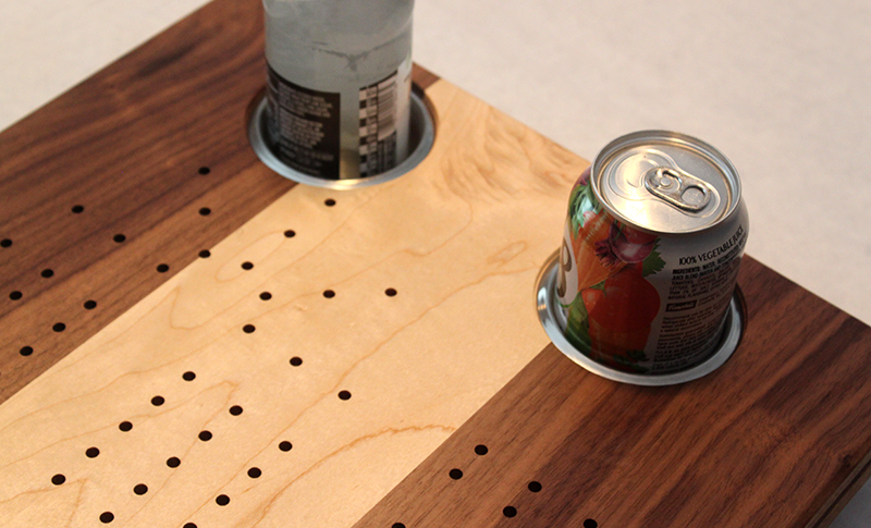 If You Would Prefer Two Cup Holders Instead Of Engraving We Offer That Too Our Removable Stainless Steel Are Recessed Into The Table And Hold